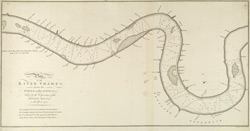 Plan of the RIVER THAMES from the TOWER to BLACKWALL taken by the Corporation of the TRINITY HOUSE in the Year 1750 number 19 A.